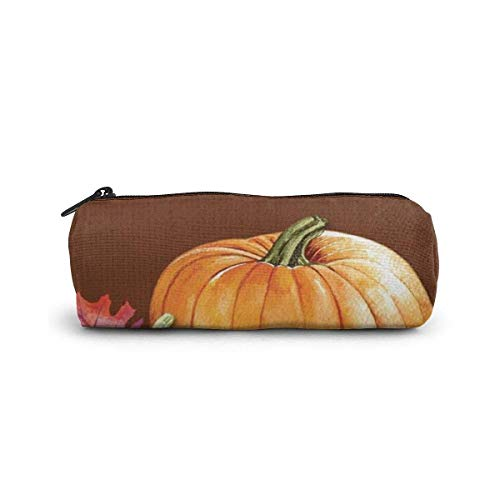 Halloween Pattern Pencil Case Cylinder Shape Pen Stationery Pouch Bag Zippers Pen Bag Office Stationery Bag Cosmetic Makeup Bag Toiletry Bag Cylinder Women Cosmetic Bag