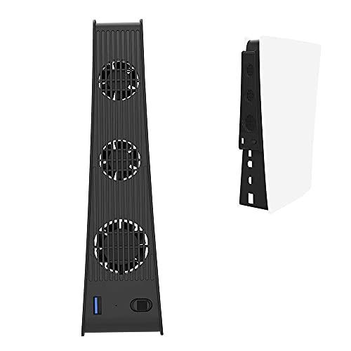 Feicuan Lüfter für PS5 Spielekonsole Externer USB Kühler mit 3 Temperaturkontrolle Ventilator für PlayStation5