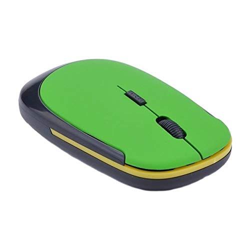 LIUCHEN ratónMini Ratón Inalámbrico de 2.4GHz 1600DPI PC Ajustable Computadora Portátil Ratones Ratón Óptico de Trabajo Inalámbrico, 02