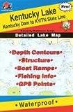 Kentucky Lake Fishing Map: Kentucky Dam to KY/TN State Line (Kentucky/Tennessee Fishing Map Series, L120)