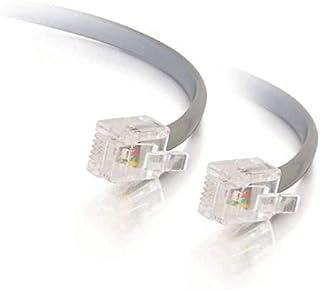 C2G 10M RJ11 6P4C Rechte Modulaire Internet ADSL-kabel, Kabel geschikt voor hoge snelheid Internet, Breedbandrouter, Mode...