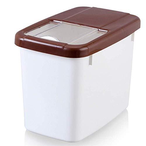 ZDW Reislagerung 2 Stück Trockenfutter-Lagerbehälter Bpa-freies Mehl, Reisspender, Tierfutter-Lagerbehälter, Hundefutterbehälter, große Behälter mit Deckel Scooper Reis-Aufbewahrungsboxen Lebensmitte