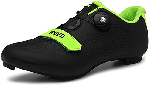 Cycling-Shoes Mens Road Bike Mountain Bike SPD//SPD-SL Compatible Double Ratchet MTB Cleat Indoor Exercise Biking Breathable Stable Comfortable Shoes Rider Riding Sneaker