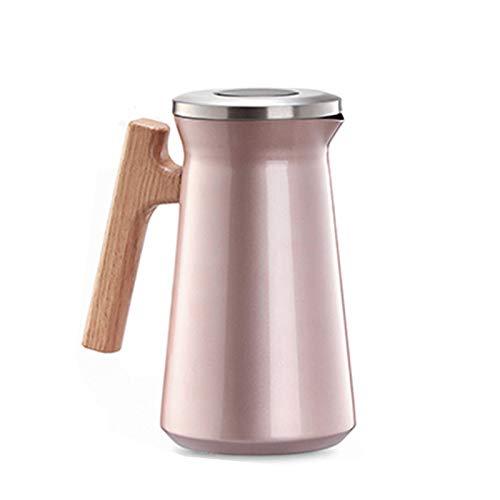 zyy Termo Jarra Jarra de Café Tetera Tetera Doble Pared Vacío de Agua Caliente 1 L Calentador para Café Y Té con Recipiente Aislante de Acero de Doble Pared (Color : Pink)