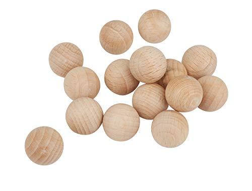 Holzkugeln ohne Bohrung Ø 15 mm, 15 Stück
