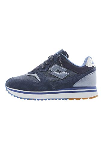 Lotto Leggenda, Donna, Slice Denim W Dark Denim True Blue, Suede/Canvas, Sneakers, Blu, 39 EU