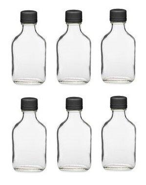 Nakpunar frasco de cristal con negro Tapón