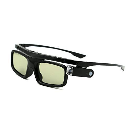 3D-Brille, 3D Active Shutterbrille Wiederaufladbare Brillen Geeignet für 3D DLP-Link Projektor Acer BenQ Optoma Viewsonic Philips LG Infocus NEC Jmgo Vivitek Cocar Toumei - 1 Stück