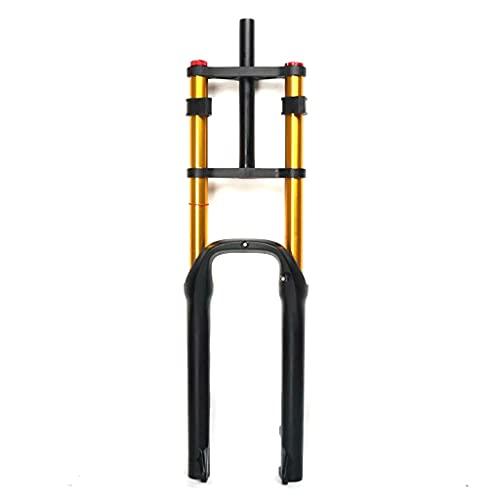 QHY Bike Air Suspension Snow/Beach MTB Fork,Travel 100MM Aluminum-Alloy Air Fork For 26 Inch - 4.0' Tire Rebound Adjust