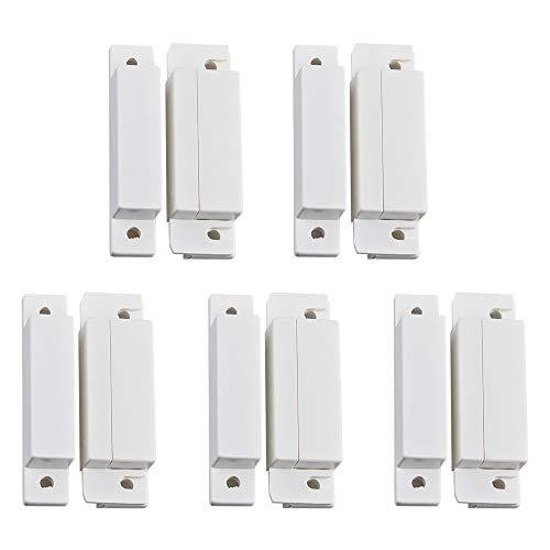 ILS - 5 Stück/Lot verdrahtete Tür-Fenster-Magnetsensor Schalter für PTSN GSM Wired Alarmanlage Tür Detector