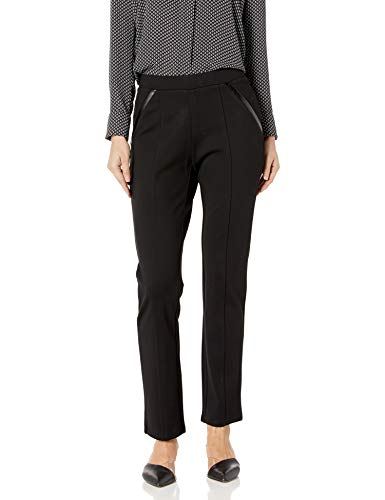 Rafaella Women's Ponte Comfort Fit Slim Leg Pants, Black, 16
