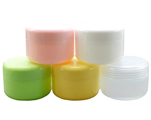 Elandy 50g / 50ml di plastica vuote vasi cosmetici con coperchi per creme / campione / Make-Up / glitter bagagli Refill estetica lozione compone il balsamo della cassa della scatola Crema Viso