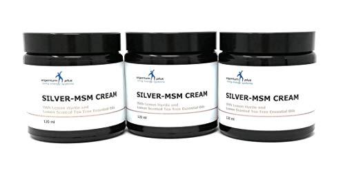 La crema Argento-MSM con olii essenziali di limone mirto e albero di tè al limone - 3 x 120 ml