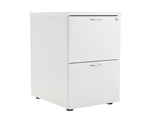 Office Hippo 2 Drawer Filing Cabinet, PRE ASSEMBLED - Wood, White
