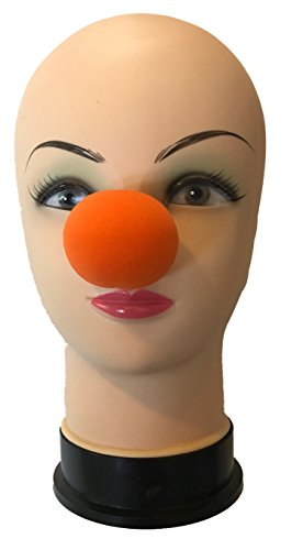 London Magic Works 2 Inch Orange Foam Clown Nose, The Finishing Touch for Any Costume