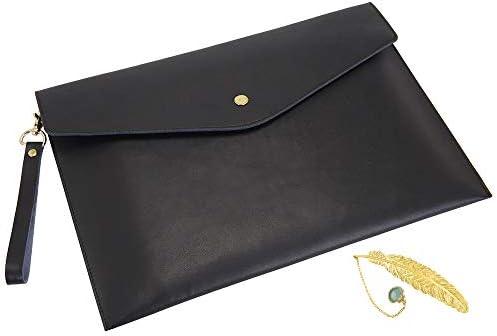 Wonderpool Lightweight Leather A4 Envelope Document Organizer Bags Multifunction Portfolio Holder product image