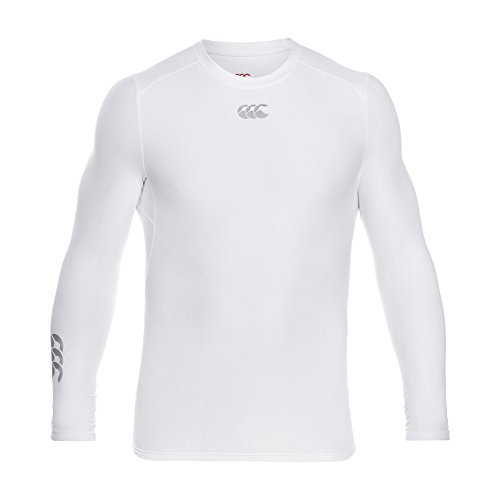 Canterbury Mens Thermoreg Long Sleeve Base Layer Top White Small