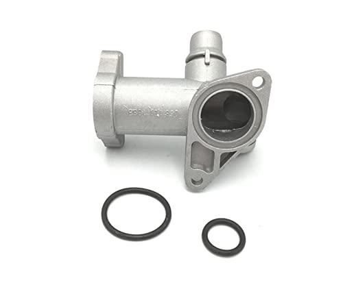 HUI 1.8 Aluminio Termostato Carcasa Refrigerante Outlet Outlet Conector de Brida Ajuste for VW Passat B5 2000-2005 FIT FOR Audi A4 1998-2000 058121133B