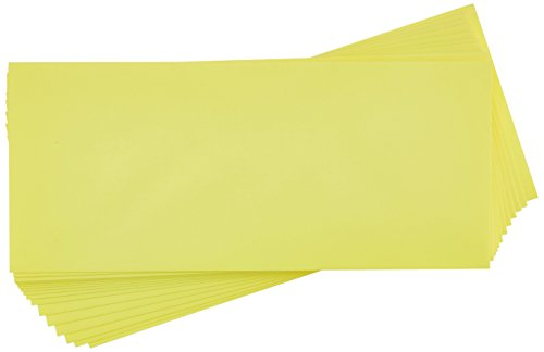 #10 Regular Envelopes (4 1/8 x 9 1/2) - Electric Yellow (500 Qty.)   Perfect for Checks, Invoices, Letterhead, Letters, Statements   4260-20-500