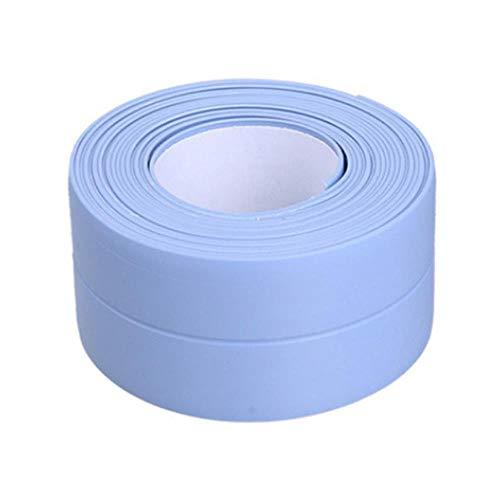 Nieuwe 3.2mx22mm 38mm Badkamer Douchebak Bad Afdichtstrip Tape Wit Zelfklevende Waterdichte Muursticker voor Badkamer Keuken, 6 blauw 38mm, Russische Federatie