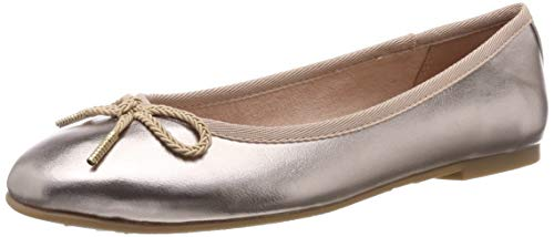 Tamaris Damen 1-1-22123-22 952 Geschlossene Ballerinas Gold (ROSE METALLIC 952), 36 EU