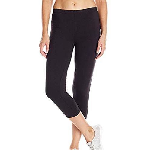 ❤YUYOUG Pantalon Legging de Sport Femmes Fitness de Course Taille Haute Stretch Pantalon de Sept Minutes Pantalon en Cuir Mince Fitness Sports Workout Pantalons de Gymnastique