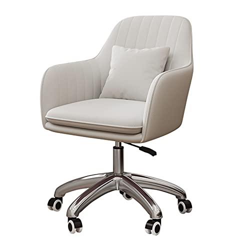 SACKDERTY Sillón Giratorio con Ruedas, sillón de Terciopelo con Acento para Sala de Estar/Dormitorio/Oficina en casa/Estudio