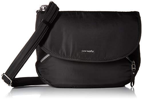 Pacsafe Stylesafe Crossbody Umhängetasche, kleine Anti-Diebstahl Tasche für Damen, Schultertasche mit Diebstahlschutz, Sicherheits-Features - 4 Liter, Uni, Black/Schwarz