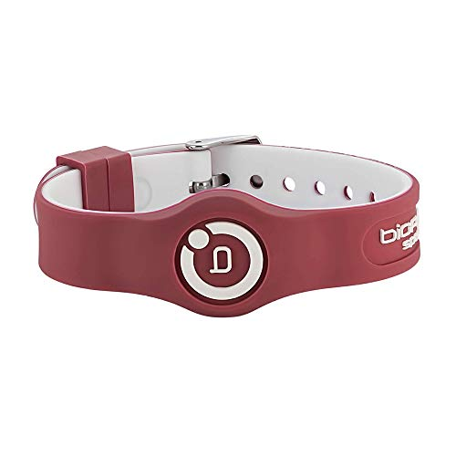 Bioflow Sport Flex Adjustable Magnetic Therapy Wristband - Maroon/White