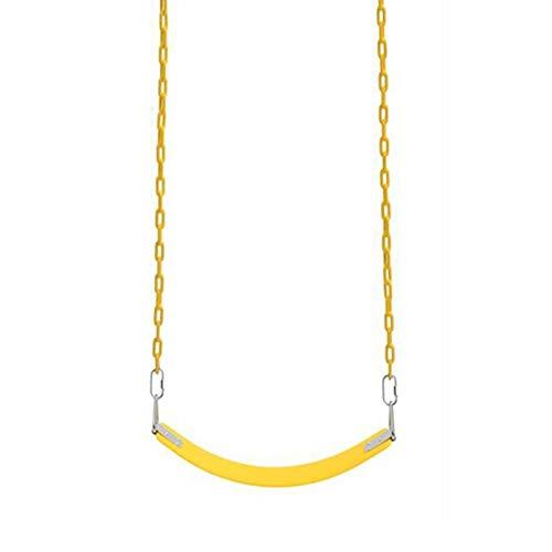 Columpio Asiento de Swing Suave con Cadena de Hierro para niños y Adultos Silla Colgante cómoda, Instalación de Tornillos (Color : Yellow, Size : 1.5m Chain)