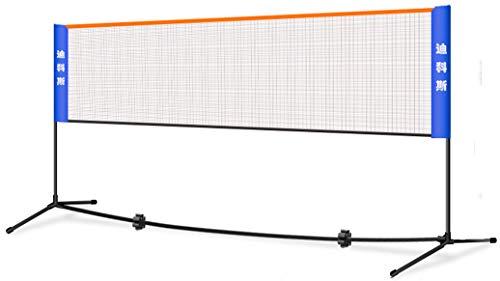 JL-GROUP Badminton Netz Volleyball Netz Tennisnetz Beachvolleyball-Netz Höhenverstellbar Set Bestehend Aus Netz Stabilem Eisen-Gestell Und Transporttasche