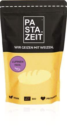 PASTAZEIT Bio Lupinenmehl - Proteinmehl (5 x 500g), Low Carb Mehl, Glutenfrei, Basisch, Ideal zum Backen, für Smoothies oder Shakes