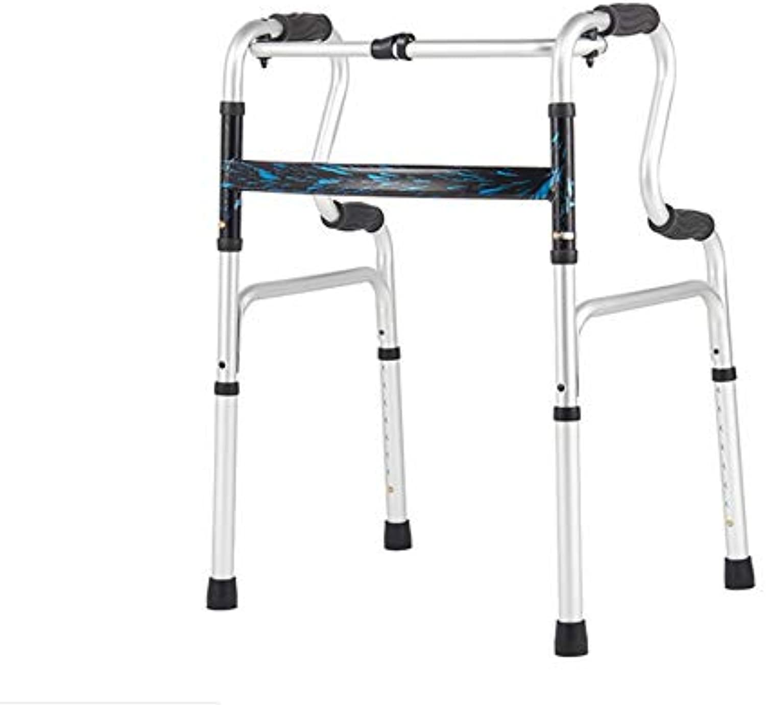 Folding Walker, Ideal for Adults and Seniors, Adjustable Height, Comfort, Lightweight Handle, Classic Bow Folding Walker,KL2158