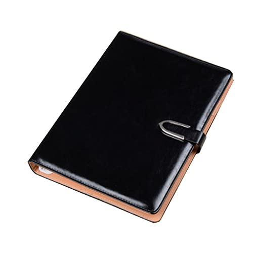 AAZZ Cuaderno Diario Negocio de Hoja Suelta Cuaderno Diario Espesado Desmontable y reemplazable de Cuero Interno de Cuero de la Oficina Simple portátil Cuadernos para Mujeres
