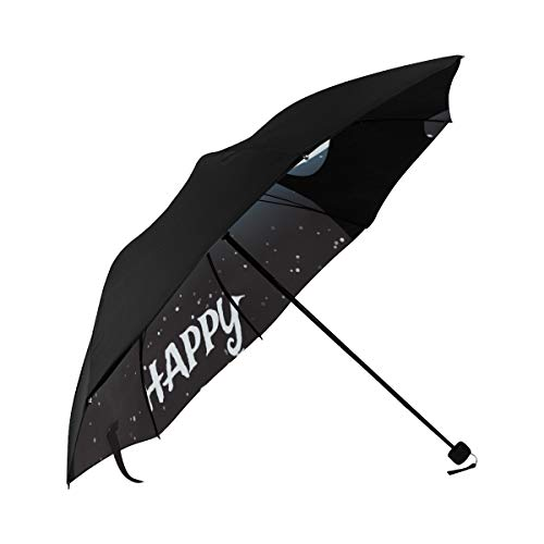 Best Umbrella Compact A Cat Looking At The Moon Underside Printing Girls Umbrella Stroller Foldable Umbrella For Travel With 95 Uv Protection For Women Men Lady Girl