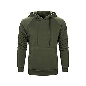 Men's Pullover Fleece Hoodie Long Sleeve Hooded Sweatshirt with Kangaroo Pocket