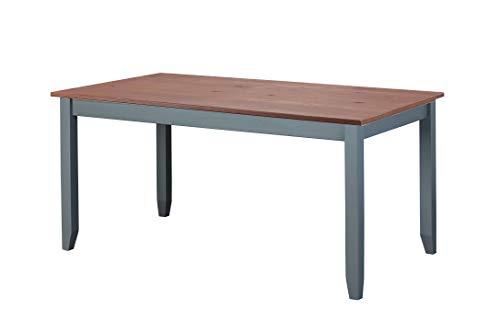 Inter Link FSC Landhausstil Esstisch Kiefer Massivholz grau Sepia braun 160 x 90 cm Esszimmer, 160 x 90 x 75 cm
