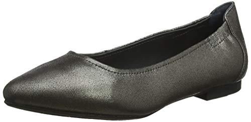 Marc Shoes Damen Aurelia Geschlossene Ballerinas, Grau (Suede Speechio Champagner 00855), 37 EU