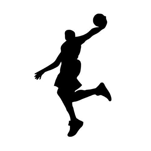 BLOUR 10 * 16 CM Jugadores de Baloncesto Pegatina para Coche Cool Sports Personalidad Reflectante Pegatinas y calcomanías para Coche CT-855