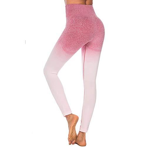 KKIMISPORT Damenhosenanzug Yogahosen Hüften Enge Stretch Hohe Taille Fitness Neun Punkte Fitness Hosen Tops L