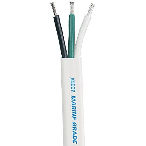 Ancor Wit Triplex Kabel - 16/3 AWG - Plat - 100'