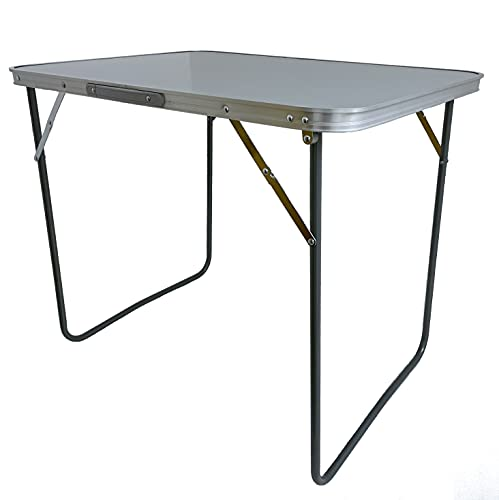 Tavolo Tavolino da PICNIC in ACCIAIO 80x60x70H cm PIEGHEVOLE da Campeggio per Camperisti