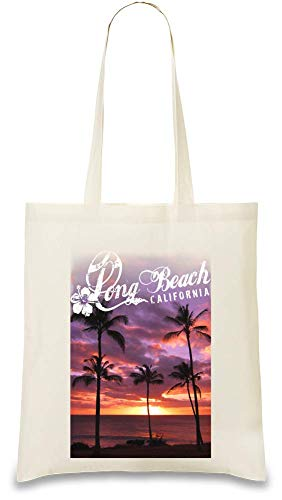 Long Beach Kalifornien - Long Beach California Custom Printed Tote Bag| 100% Soft Cotton| Natural Color & Eco-Friendly| Unique, Re-Usable & Stylish Handbag For Every Day Use| Custom Shoulder Bags By