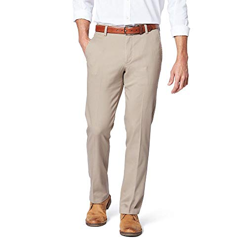 Dockers Men's Slim Fit Signature Khaki Lux Cotton Stretch Pants, New British Khakhi, 36W x 30L