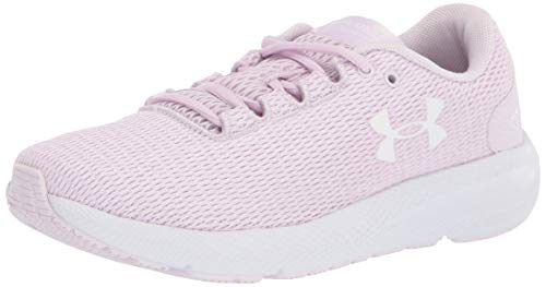 Under Armour Charged Pursuit 2 Twist, Zapatillas De Running Mujer, Cristal Lila Blanco Blanco 503, 42 EU