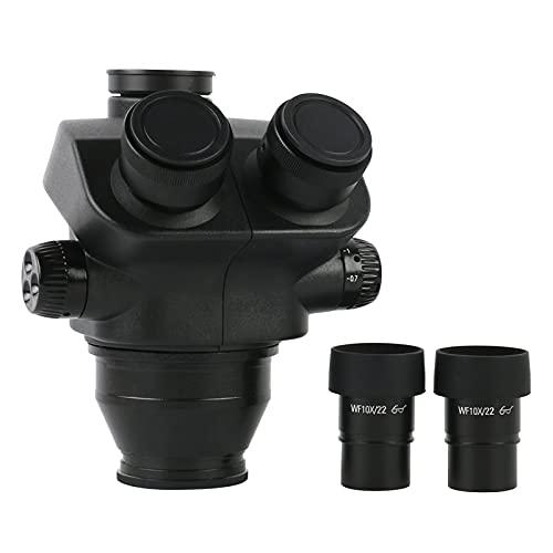 LILICEN LYJ Microscopio Stereo 7x-50x Testa del microscopio trinoculare + WF10X / 22mm Oculare Occhio Gomma Accessori per microscopio Accessori per microscopio (Color : A)