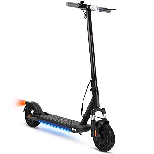 VORCOOL Electric Scooter, Electric Kick Scooter 10-inch Inflatable Tires, 500W Motor, Max 30KM/ H, Motorized Scooter for Adults, Foldable and Portable