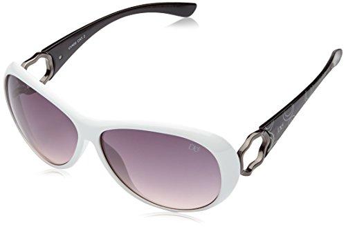 DICE Damen Sonnenbrille D048711 solid white