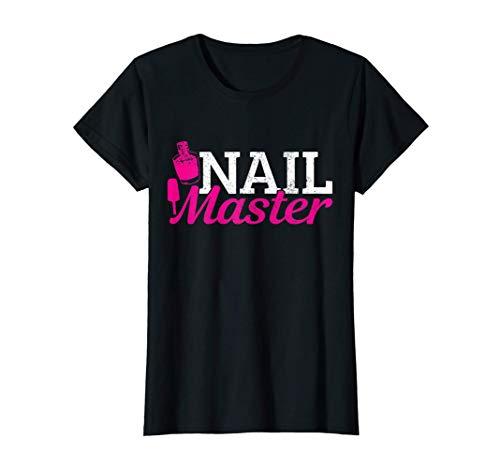 Womens Nail Technician Master Manicurist Beauty Nail Tech Artist T-Shirt