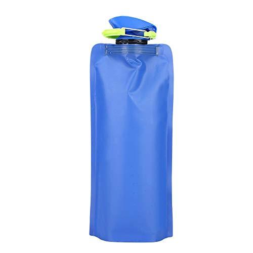 VGEBY1 Bottiglia d'Acqua Pieghevole, 650ml Emergenza Pieghevole Acqua Potabile Borsa Acqua Serbatoio per Il Campeggio, Escursionismo, Ciclismo, Corsa